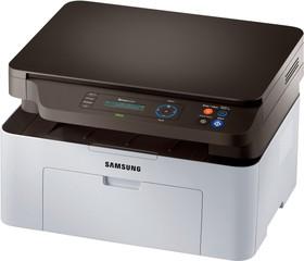 МФУ SAMSUNG SL-M2070, A4, лазерный, белый [sl-m2070/fev]