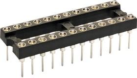 Фото 1/2 110-99-316-41-001000, Conn DIP Socket SKT 16 POS 2.54mm Solder ST Thru-Hole Tube