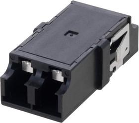FOA-804-BLK, LC INTERNAL SHUTTER COUPLER, DUPLEX, NO FLANGE, BLACK 97AC8788