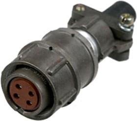 Фото 1/2 2PM18-4TKQB2, розетка на кабель 4 контакта (аналог 2РМДТ18КПН4Г5В1В)