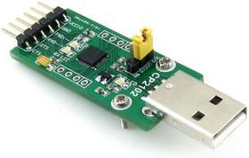 Фото 1/7 CP2102 USB UART Board (type A), Преобразователь USB-UART на базе CP2102 с разъемом USB-A