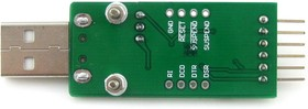 Фото 1/5 CP2102 USB UART Board (type A), Преобразователь USB-UART на базе CP2102 с разъемом USB-A