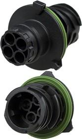 2.5mm 1-967402-1, корпус вилки 4 конт. для 967325 (марк.1-965686-1)