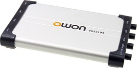 VDS3104, 4кан. 100МГц 1Гв/с PC осциллограф
