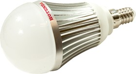7W-E14-6000K-DIM, Лампа светодиодная 7 Вт. Цоколь E 14. Температура 6000 К. Диммируемая.