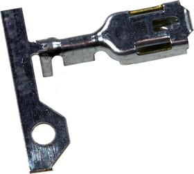 927854-6, POSITIVE LOCK6, клемма ножевая гн.6.35мм неизол.на пр.1-2.5мм2