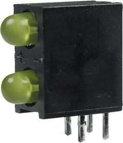 L-934DB/2YD, светодиодная сборка 2шт. желтый d=3мм 15мКд