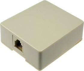 XTC-468-6C, розетка телефонная TJC-6C настенная
