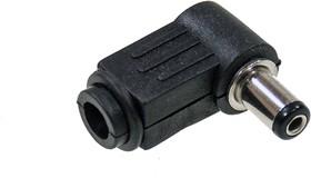 14-0312, Разъем питания штекер 5.5x2.1x1мм пластик на кабель угловой