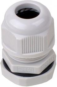 PG-16, Ввод кабельный белый, нейлон 6.6, IP54