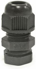 MG-12, Ввод кабельный черный, нейлон 6.6, IP68