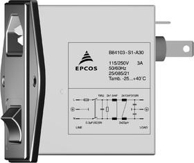 B84103-S1-A10, 2x1 A, 250 В, Сетевой фильтр