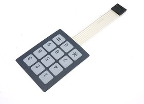 Sealed Membrane 3x4 button pad with sticker, Клавиатура 12-ти кнопочная для Arduino проектов