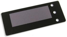 FS74x29B-49x17M, Лицевая панель черная - 74х29 мм, матовое окно 49х17 мм