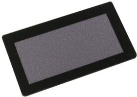 FS45x25B-37x17M, Лицевая панель черная FS45x25B-37x17M - 45х25 мм, матовое окно 37х17 мм