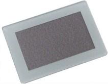 FS28x19WS-21.7x13M, Лицевая панель дымчато-белая - 28х19 мм, матовое окно 21.7х13 мм