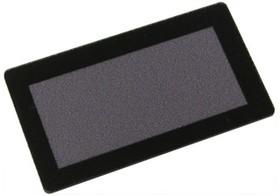 FS57x26B-49x18M, Лицевая панель черная - 57х26 мм, матовое окно 49х18 мм