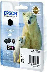Картридж EPSON C13T26014010 черный