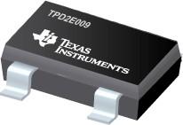 TPD2E009DRTR, 2-канальный подавители статического заряда для высокоскоростных интерфейсов данных, SOT-3