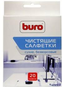 Сухие салфетки BURO BU-Udry, 20 шт