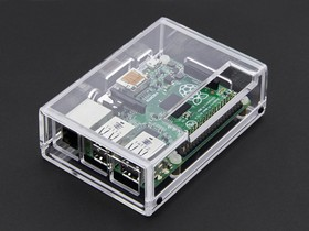 Фото 1/5 Acrylic Case for Raspberry Pi Model B+ / Pi 2 [CLEAR], Корпус для одноплатного компьютера Raspberry Pi Model B+ / Pi 2