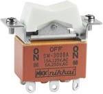 Фото 1/2 SW3008A, Switch Rocker (ON) OFF (ON) DPDT Solder Lug Rocker 15A 250VAC 30VDC 30000Cycles