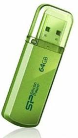 Флешка USB SILICON POWER Helios 101 64Гб, USB2.0, зеленый [sp064gbuf2101v1n]