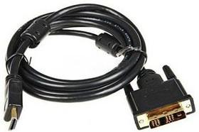 Кабель Buro HDMI (m)/DVI-D(m) 10м. феррит.кольца Позолоченные контакты черный (HDMI-19M-DVI-D-10M)