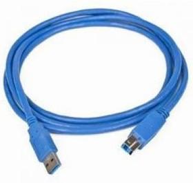Кабель USB3.0 BURO USB A (m) - USB B (m) 1.8м, синий [usb3.0-am/bm]