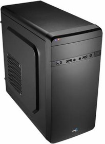 Корпус mATX AEROCOOL Qs-180, Mini-Tower, без БП, черный