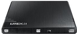 Оптический привод DVD-RW LITE-ON eBAU108, внешний, USB, черный, Ret
