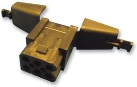 Фото 1/2 SMS6RDH1, Корпус разъема, монтаж на кабель, встроенный кожух с компенсатором натяжения, Серия SMS QIKMATE
