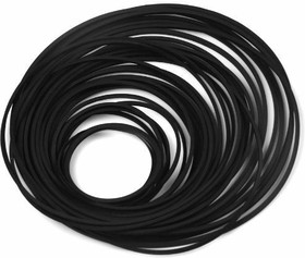 Cassette Tape Belt (Mix 30 pcs), Набор пассиков для РЭА, диаметр 40-130мм, сечение квадрат 0.7 x 0.7 мм