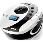 Аудиомагнитола BBK BS10BT белый/черный 4Вт/MP3/FM(dig) ...