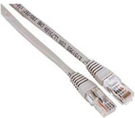 Патч-корд HAMA 00030622 UTP, cat.5E, 10м, 1 шт, серый
