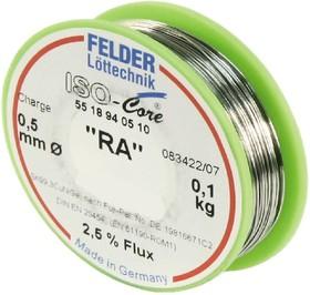 """Sn95Ag5 Тр ISO-Core """"RA"""" (2.0мм), Припой олово-серебро, катушка 100г"""