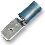 Фото 1/2 MDD2-250, Клемма ножевая 6.35мм, вилка, изолированная (синяя)