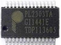 Фото 1/2 PL2303TA, Контроллер USB - Serial Bridge, [SSOP-28]