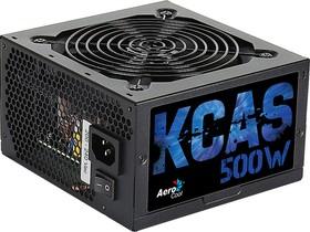 Блок питания AEROCOOL KCAS-500W, 500Вт, 120мм, черный, retail