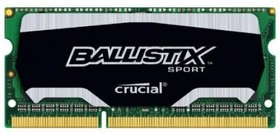 Модуль памяти CRUCIAL Ballistix Sport BLS4G3N169ES4CEU DDR3 - 4Гб 1600, SO-DIMM, Ret