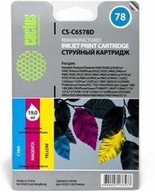 Картридж CACTUS CS-C6578D №78, голубой / пурпурный / желтый