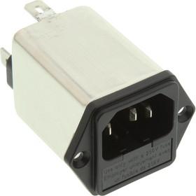Фото 1/2 6609116-3, IEC фильтр, 0.1 мкФ, 250 В AC, Медицинский, 6 А, Быстрое Соединение, 930 мкГн