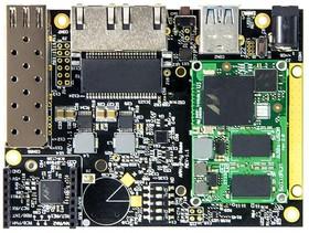 SRM6828S00D01GE008B01CH, Single Board Computer, ClearFog Base, ARMADA A388 SoM, 1GB RAM, 8GB eMMC Flash, With Heatsink