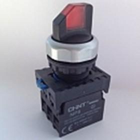 NP8-11XD/214 110-230VAC, Переключатель двухпозиционный красный с подсветкой OFF-(ON)/ON-(OFF)