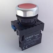 NP8-01BND/4 110-230VAC, Кнопка без фиксации красная с подсветкой OFF-(ON)