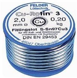 """Sn97Cu3 прв """"Cu-Rotin3"""" (2.0мм), Припой для фитингов олово-медь, катушка 100гр"""
