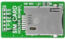 Фото 1/4 MIKROE-314, SIM Card Holder Board, Держатель для SIM-карт