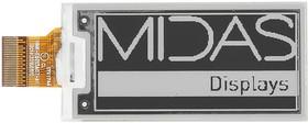 "MDE0213A122250BW, E-PAPER DISPLAY, 122 X 250 PIXELS, 2.13"""