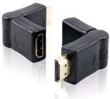 Фото 1/2 GC-CV308, Адаптер-переходник HDMI-HDMI 19M/19F, поворотный штекер