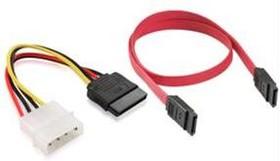 GC-ST101+ST201, Комплект кабелей SATA, интерфейсный 7pin/7pin , питания 4pin/15pin